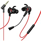 Baseus Gamo 3,5mm Aux Wired Earphone H15 Black with Extra Plug-in Microphone Superior Sound for Gaming Movie Music Live…