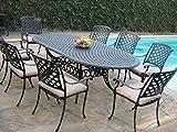 Cast Aluminum Outdoor Patio Furniture 9 Piece Expandable Dining Set DS-09KLSS260180T For Sale