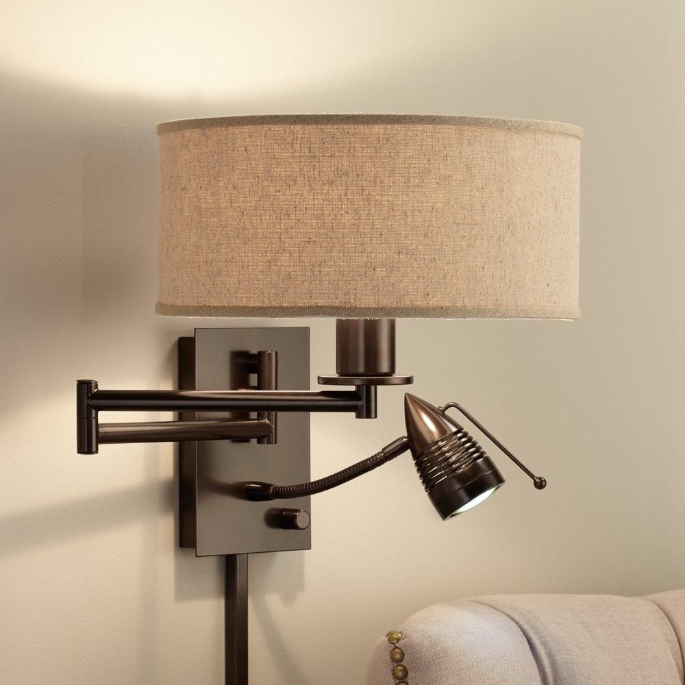 Possini Euro Radix Plug In Tiger Bronze Swing Arm Wall Lamp     Amazon.com