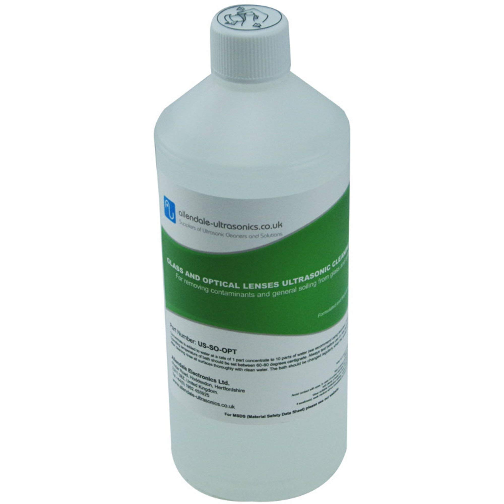 Glass and Optical Lenses Ultrasonic Cleaner Solution - 1 Litre Cleaning Fluid by Allendale Ultrasonics