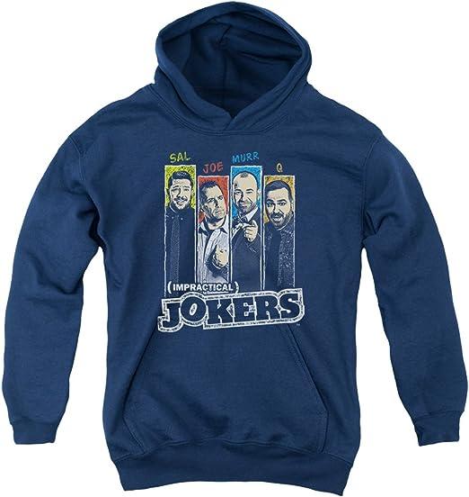 Impractical Jokers Kids T-Shirt Cast Slides Navy Tee