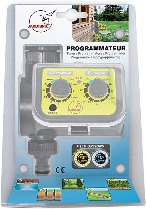 Jardibric 4963 Aqua Flow - Programador de riego, multicolor