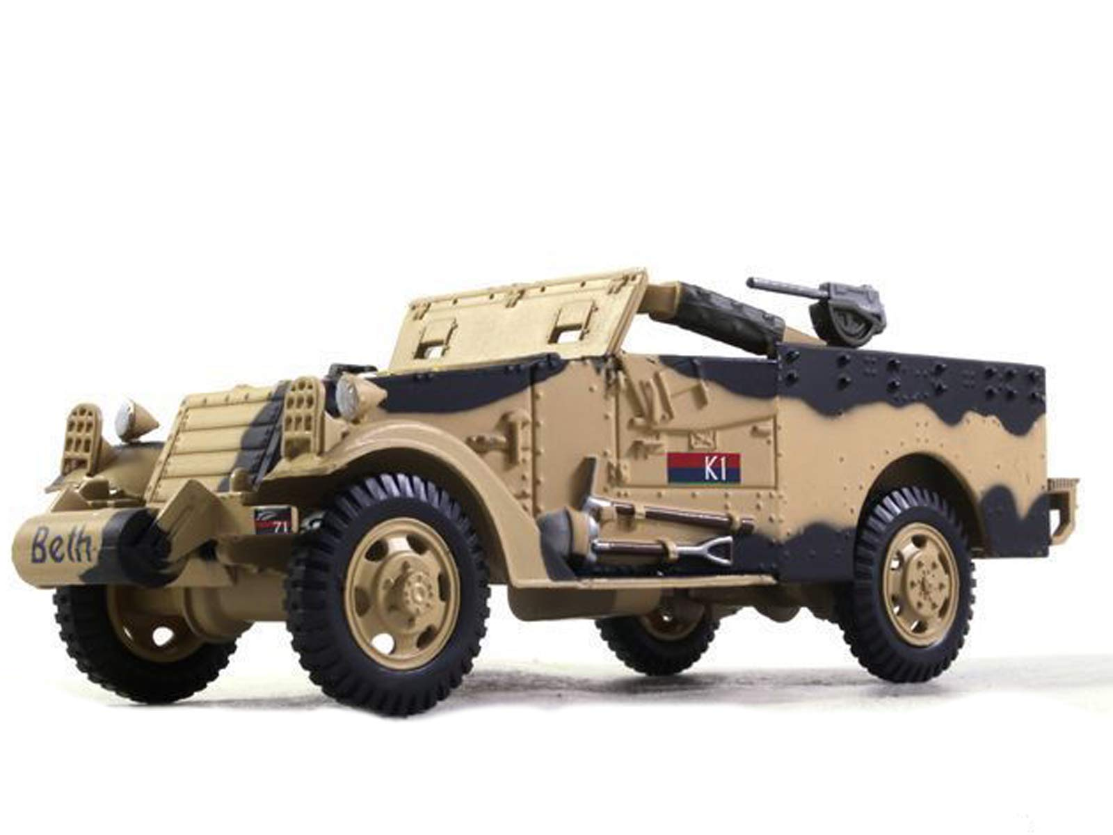 M3A1 Scout Car 1943 Year United States Armoured Car 1/43 Collectible Model Vehicle Ambulance and Gun Tractor by White Motor Company