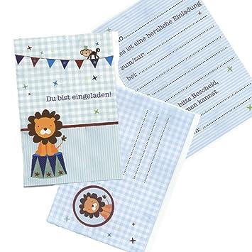 Schön 5 Einladungskarten Kinder Geburtstag Kindergeburtstag Löwe