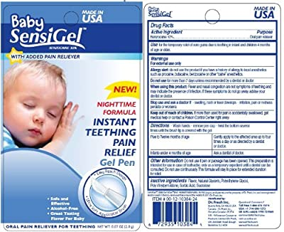 Baby Sensi Gel Instant Teething Pain Relief Gel Pen - Night Time Formula