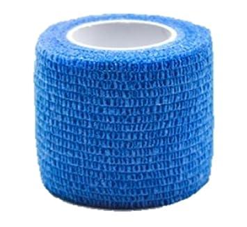 cohesivo vendaje adhesivo rollo Venda cinta flexible vendaje deportivo no tejido. 4.5m x 5cm (azul marino): Amazon.es: Deportes y aire libre