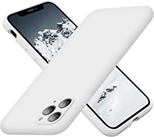 Cordking iPhone Case 11 Pro Max, Silicone Ultra Slim Shockproof Phone Case with Soft Anti-Scratch Microfiber Lining, [Enhanced Camera Protection], 6.5 inch, White