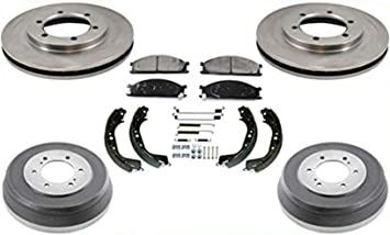 1998 1999 2000 2001 For Nissan Frontier Rear Drum Brake Shoes RWD