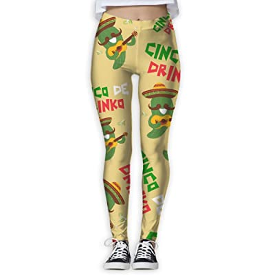 e5e6059069c5c JCOE Yoga Cinco De Drinko Printed Women s Skinny Workout Running Yoga Pants  Leggings Trousers