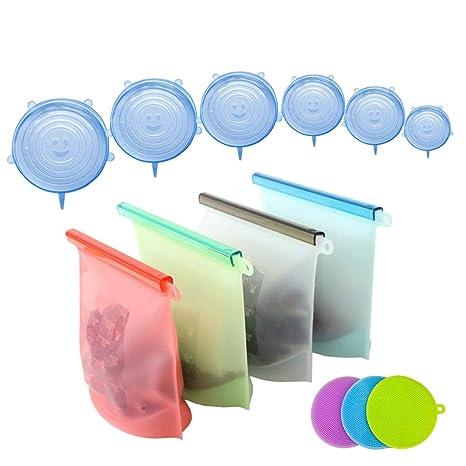 Cosyres - Bolsa de almacenamiento de alimentos de silicona ...