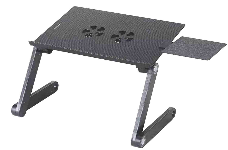 ノートパソコンテーブルアルミベッドコンピュータテーブルアウトドアバーベキューピクニック折りたたみテーブルアウトドアバーベキューピクニックギフト OneSize ブラック 78143 B077HNRRGK  ブラック OneSize
