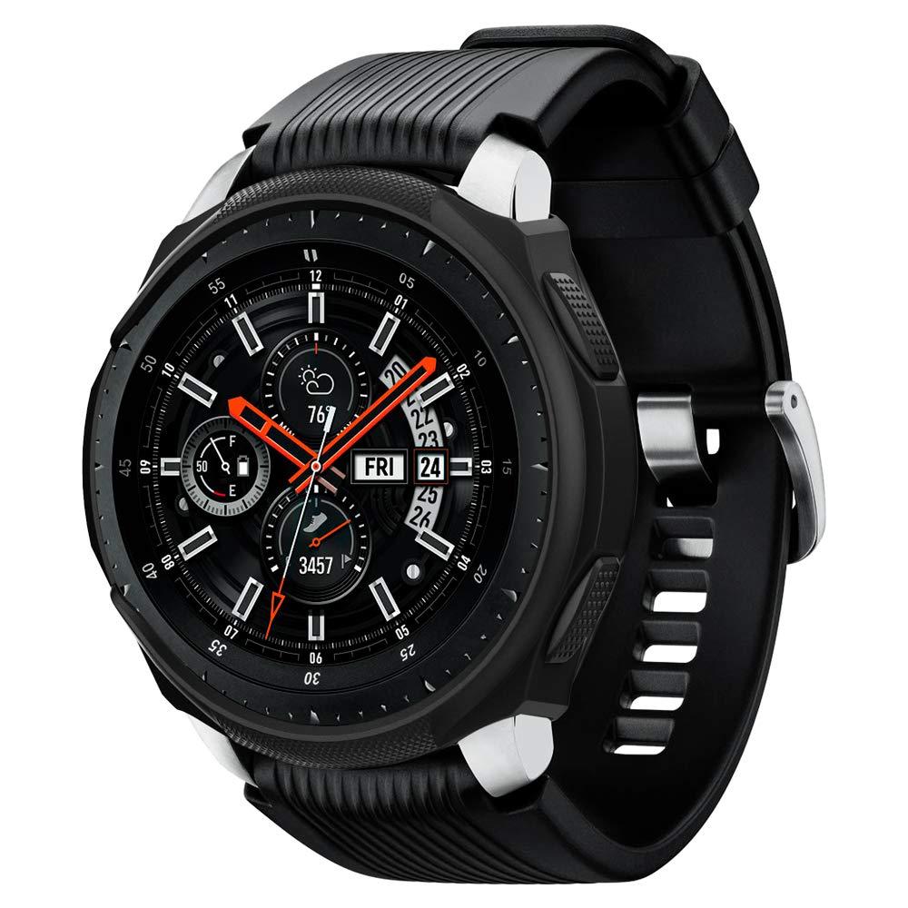 Spigen Liquid Air Armor Designed for Samsung Galaxy Watch Case 46mm (2018) / Designed for Samsung Gear S3 Frontier Case (2017) / Smartwatch Case - Black by Spigen