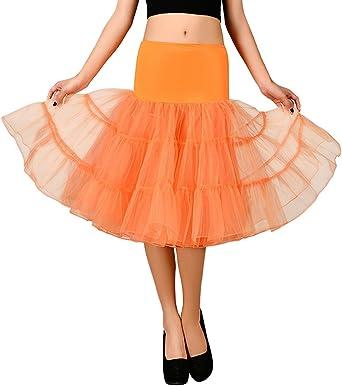 Feoya Mujer Cancan Tutú Tul Retro 50s Vintage Falda para Danza ...