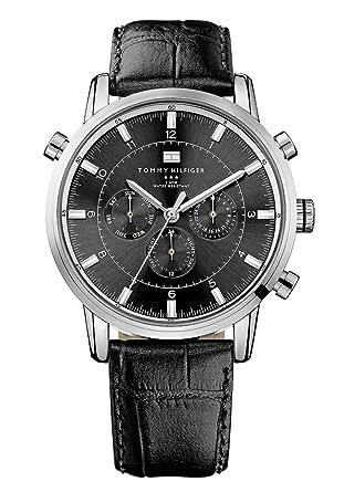Reloj para hombre Tommy Hilfiger 1790875, mecanismo de cuarzo, diseño con varias esferas, correa de piel.: Amazon.es: Relojes