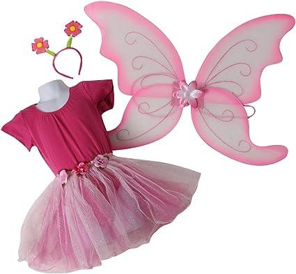 Amazon.com: Las niñas Rosa/bailarina Fairy Princess Tutu Set ...