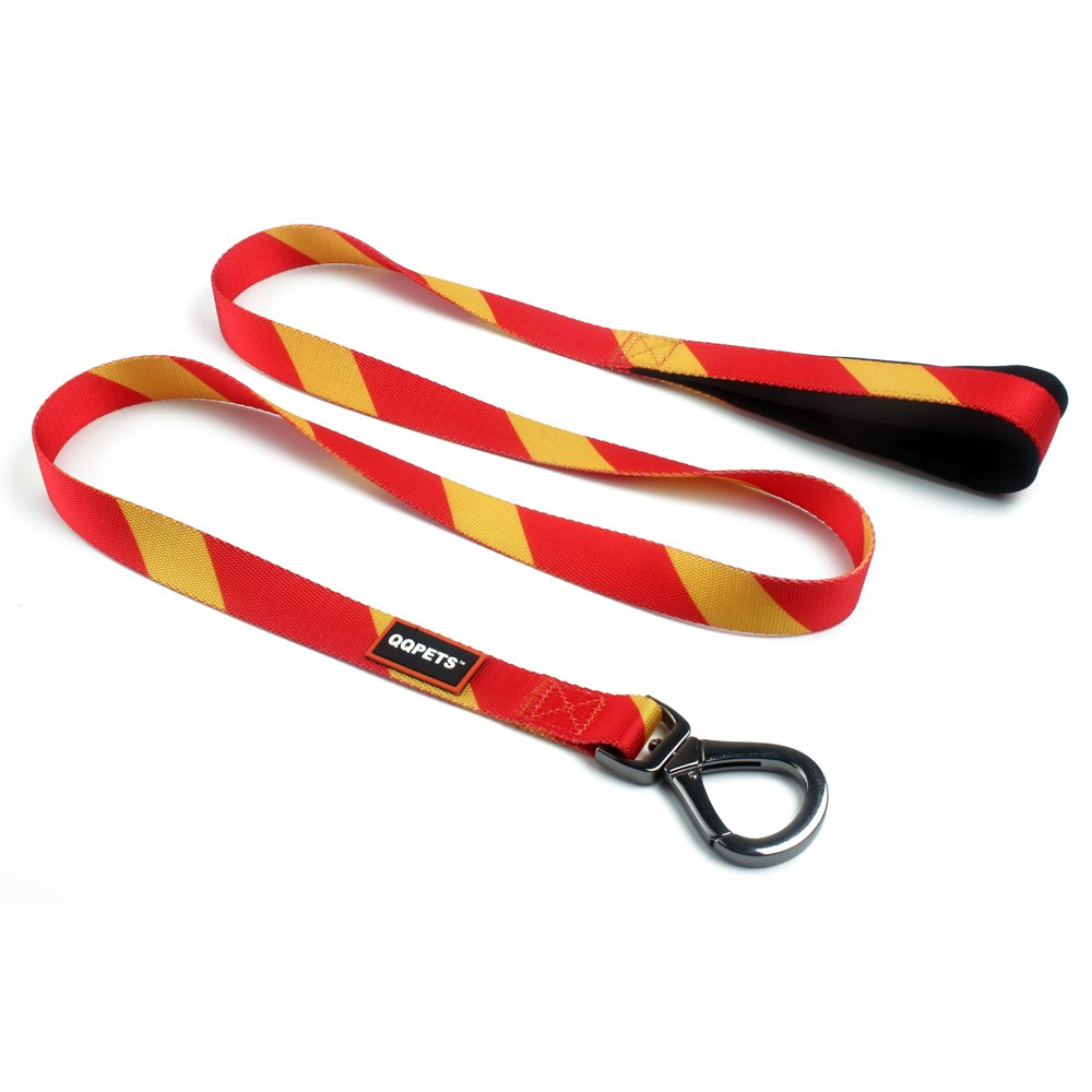 Spain 1 in. x 5 ft. Spain 1 in. x 5 ft. QQPETS Dog Leash Personalize Splicing with Soft Comfortable Padded Handle for Extra Control, 5 FT Durable Leashes for Large Dogs (1 in. x 5 ft, Spain)