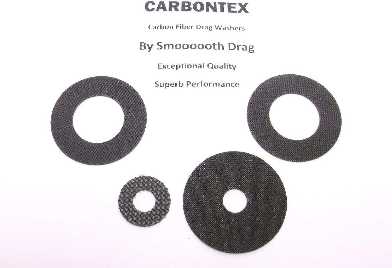 4 Daiwa Reel Part Lexa 300HS Smooth Drag Carbontex Drag Washers #SDD8