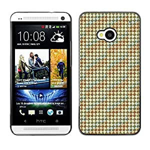 ZECASE Funda Carcasa Tapa Case Cover Para HTC One M7 No.0002554