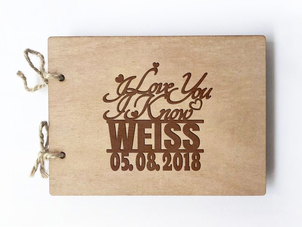 Wedding guest book - Notebook - inspired by Star Wars - I love you I know