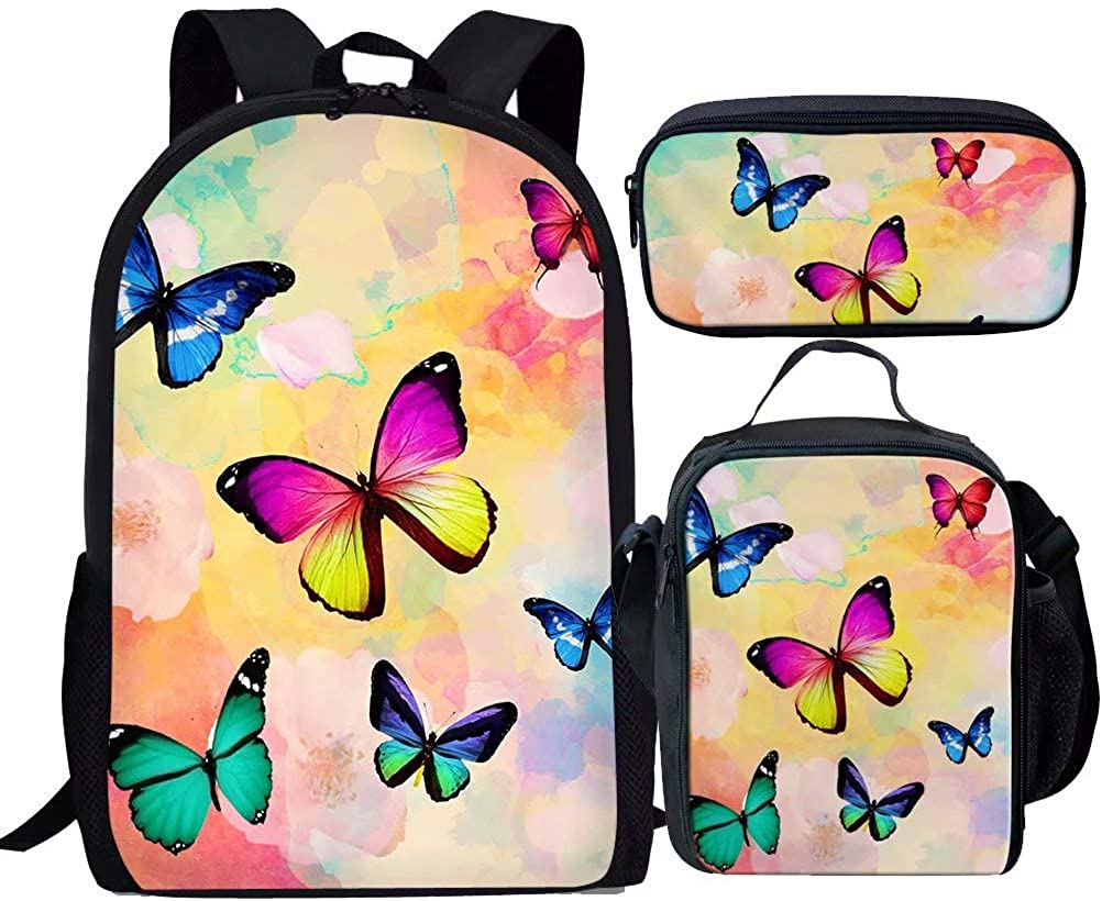 Beauty Collector Butterfly Scool Backpack Set Kids Girls Pink Backpack