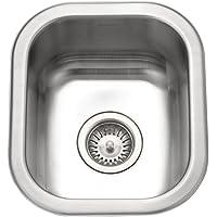 Houzer CS-1307-1 Club 12-7/16-by-14-11/16-Inch Undermount Stainless Steel Bar or Prep Sink