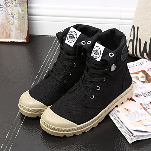 Women Boots Multifunction Shoes Sneaker Shoes Canvas Desert Outdoor Combat Hiking Black arTrxE