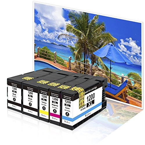 Valuetoner Replacement PGI-1200 XL 1200XL Compatible Ink Cartridge for Maxify MB2320 MB2020 MB2350 MB2050 MB2120 MB2720 Inkjet Printer, 5 Pack (2 Black, 1 Cyan, 1 Magenta, 1 Yellow) Photo #7