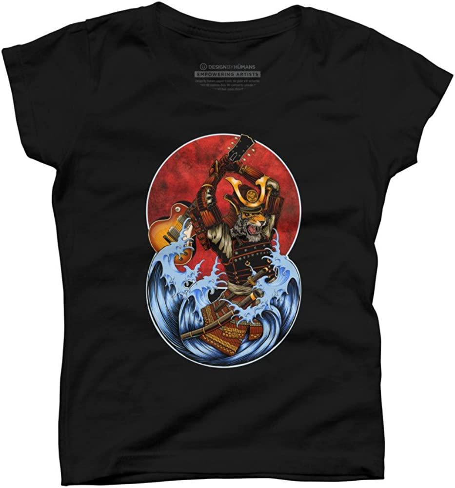 Design By Humans Six String Samurai Girls Youth Graphic T Shirt