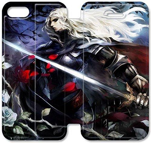 Klreng Walatina® Coque iPhone 6 6s Plus de 5,5 pouces Coque cuir Vanillaware ARPG de dragon Couronne F8I7Nx