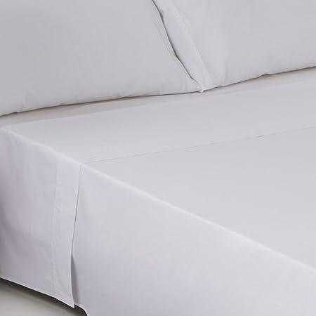 Sedalinne Sábanas HOTELES - Encimera Calidad 30/27 (144 Hilos) 50% algodón - 50% poliéster. Cama 90 cm. Color Blanco: Amazon.es: Hogar