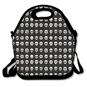 pirate skull awesome lunch bag lunch tote lunch box handbag for kids and adults. Black Bedroom Furniture Sets. Home Design Ideas