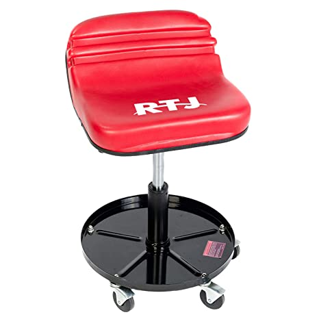 Superb Rtj 300 Lbs Capacity Pneumatic Mechanic Roller Seat Adjustable Rolling Stool Red Ibusinesslaw Wood Chair Design Ideas Ibusinesslaworg