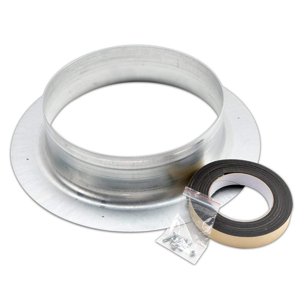 SKINNYBUNNY 10 Inch Ventilation Flange Kit with 6.6 FT EVA Spongy Sealant