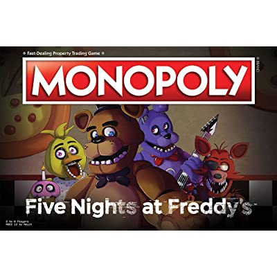 USAOPOLY Monopoly Five Nights at Freddy's Board Game | Based on Five Nights at Freddy's Video Game | Officially Licensed Five Nights at Freddy's Merchandise | Themed Classic Monopoly Game: Toys & Games