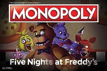Monopoly Five Nights at FreddyS Board Game   Based on Five Nights at FreddyS Video Game   Officially Licensed Five Nights at FreddyS Merchandise   Themed Classic Monopoly Game: Amazon.es: Juguetes y juegos