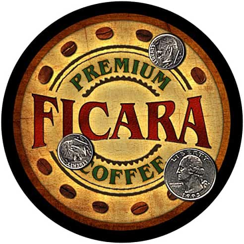 Ficara Family Coffee Rubber Drink Coasters - Set of 4