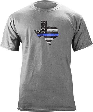 USAMM Original Texas línea Azul Americano Bandera Camiseta - Gris -: Amazon.es: Ropa y accesorios