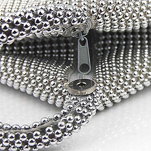 silver femme Eveing SSMK pour Pochette Bags Party wYFXSq67