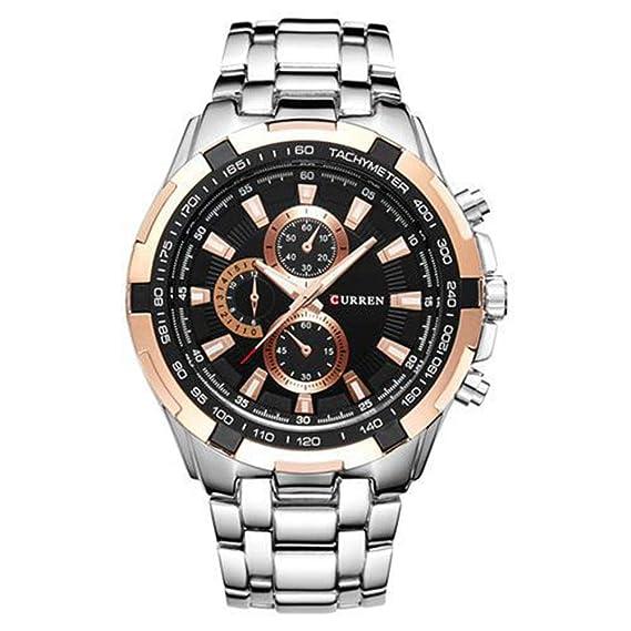 Relojes clásicos de Cuarzo para Hombre, Reloj de Pulsera Digital de Hombre A La Moda Hong tianyuan Blanco: Amazon.es: Relojes