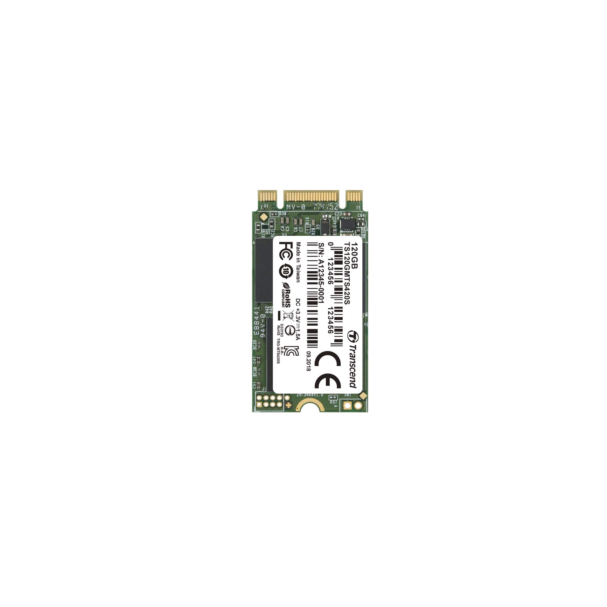 Transcend 3D TLC NAND with SSD M. 2 2242 SATA - III GB/S mts420s Series