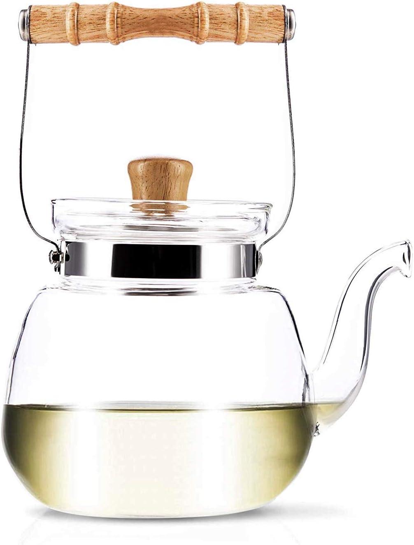 YAMA GLASS YAMT17 Teapot and Water Kettle 40 oz