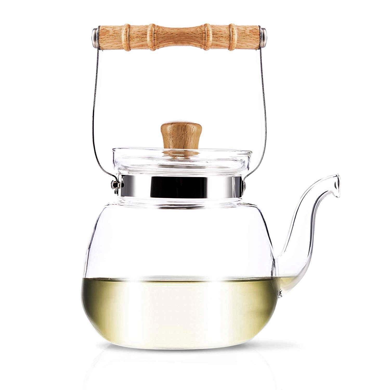 YAMA GLASS YAMT17 Teapot and Water Kettle 40 oz by Yama Glass