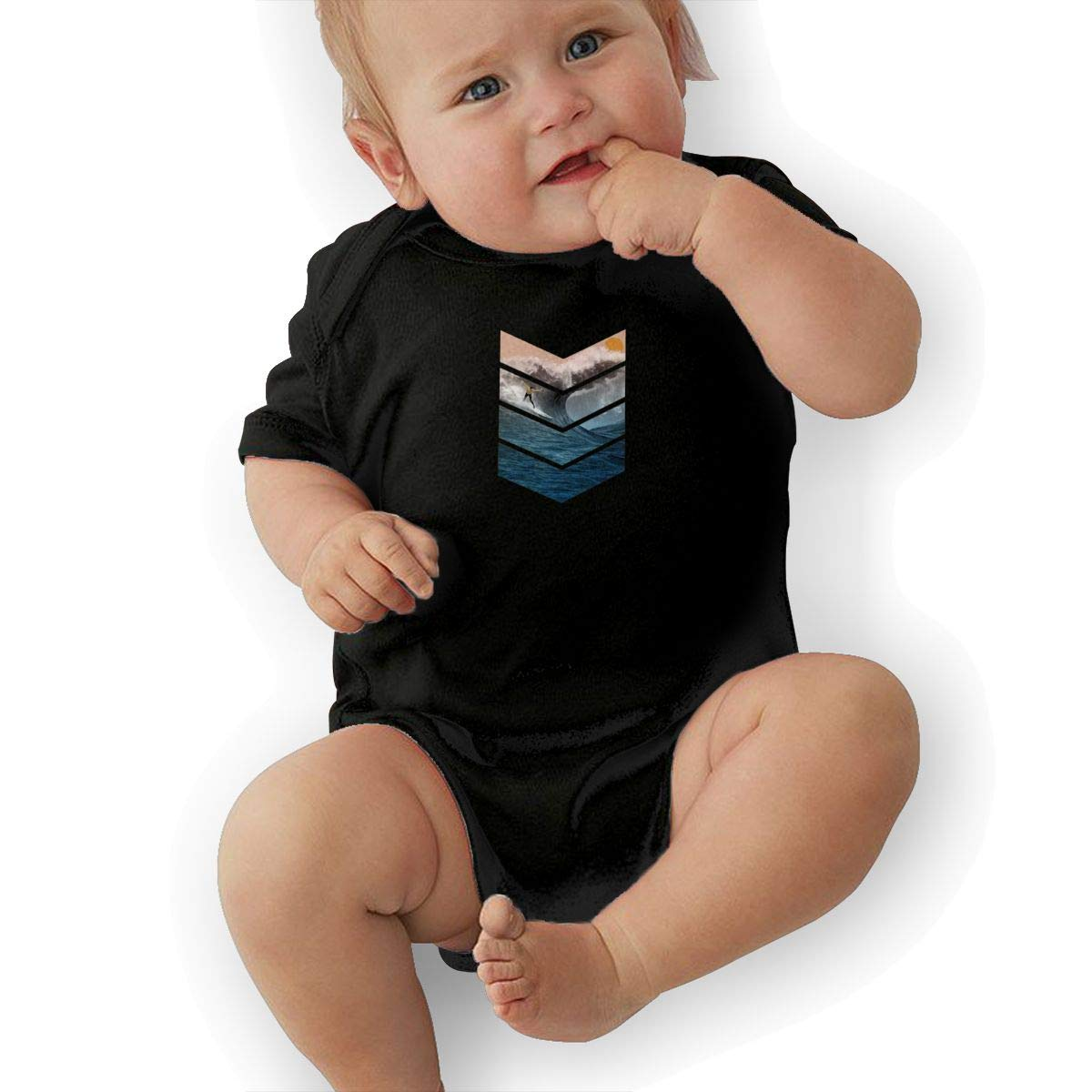 HappyLifea Sunrise Surfer Baby Pajamas Bodysuits Clothes Onesies Jumpsuits Outfits Black