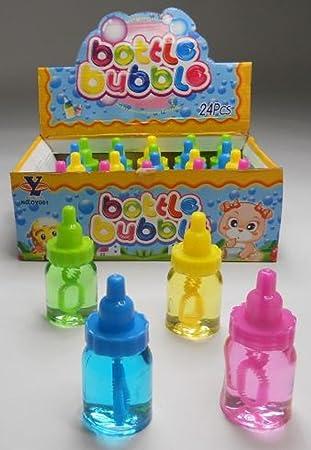 10 pompas de jabón en forma de botella obsequios Cumpleaños infantiles