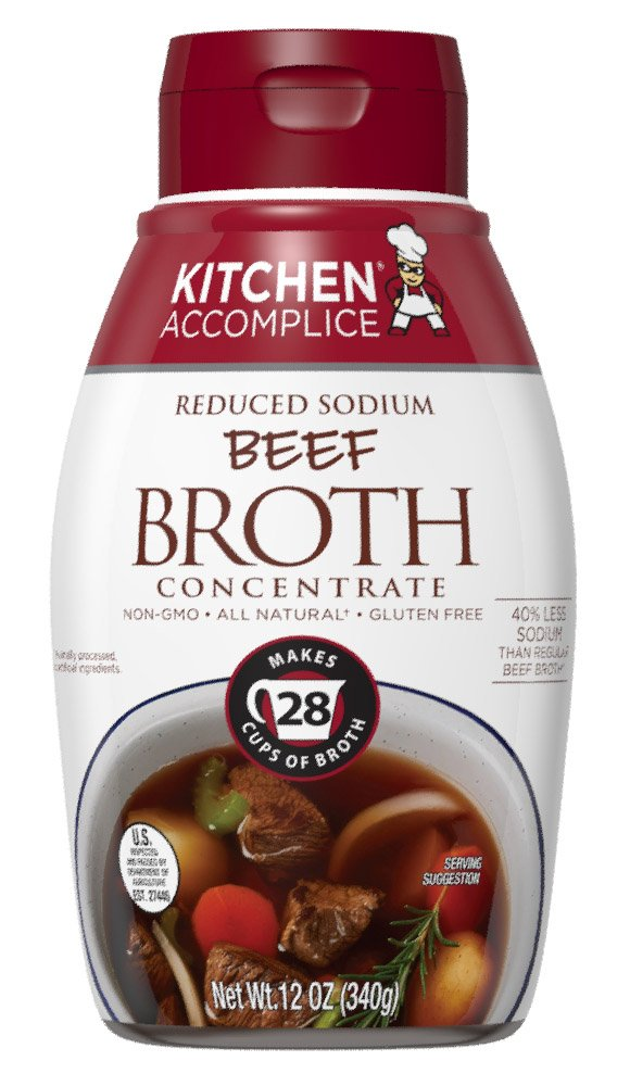 Kitchen Accomplice Reduced Sodium Beef Broth Concentrate, 12 Oz