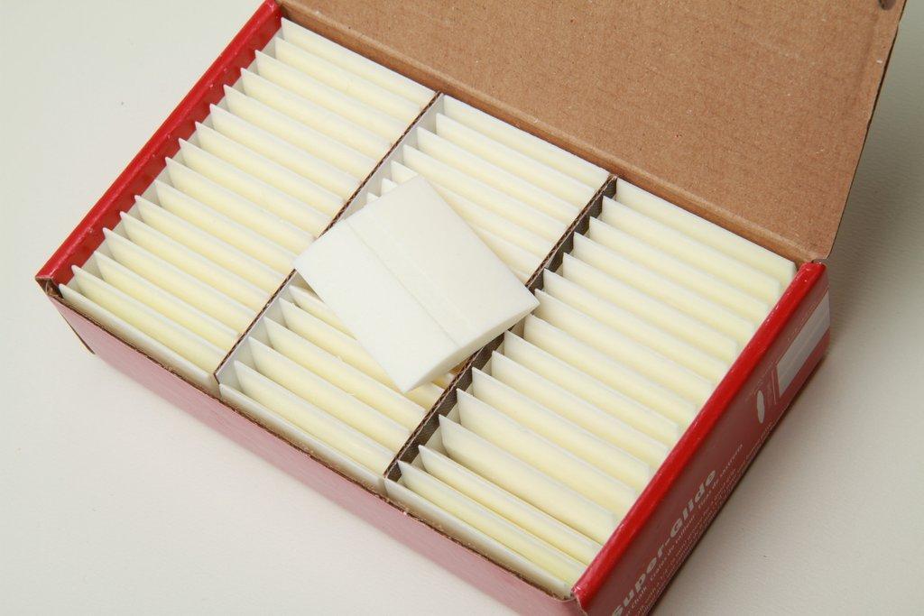 Carmel Super-Glide Tailors' Chalk White Color, 48 pcs
