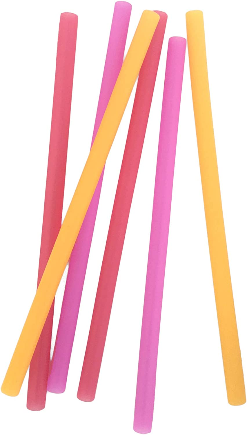 Ombre Red Reusable Silicone Straws 6pk Silikids Silikids