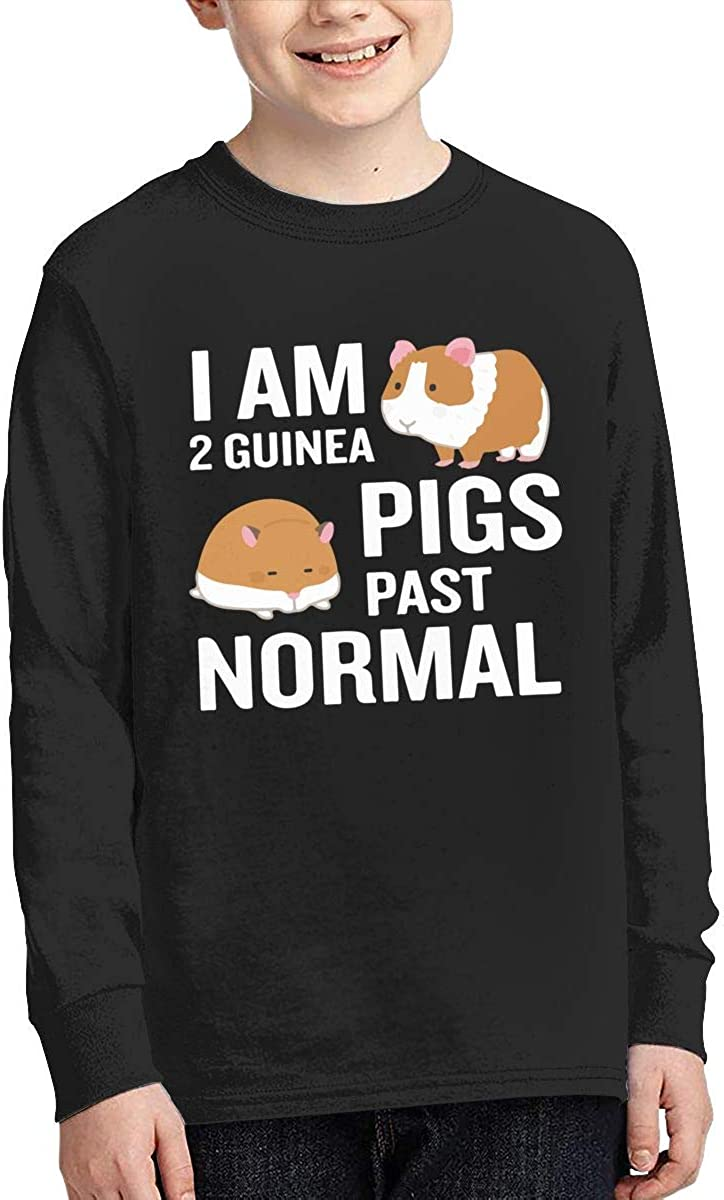 Teenagers Teen Boy I Am 2 Guinea Pigs Past Normal Printed Long Sleeve 100/% Cotton Tee Shirt