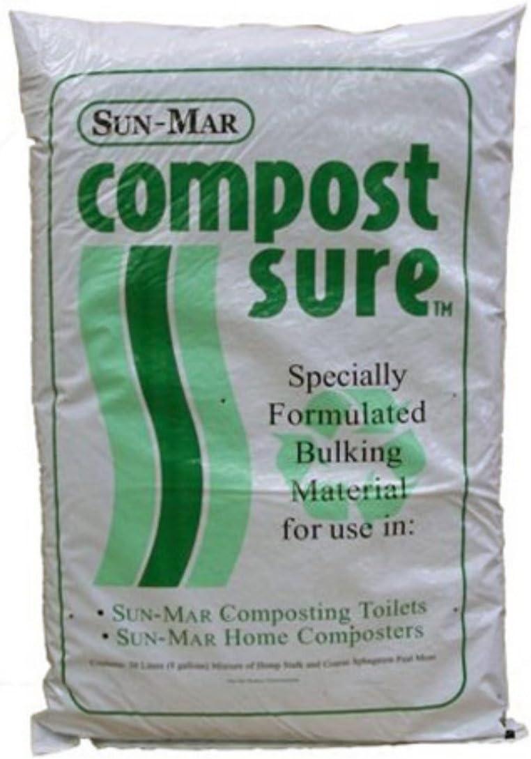 Sun-Mar Compost bolsa de seguro de verde 30 litros (8 litros): Amazon.es: Jardín