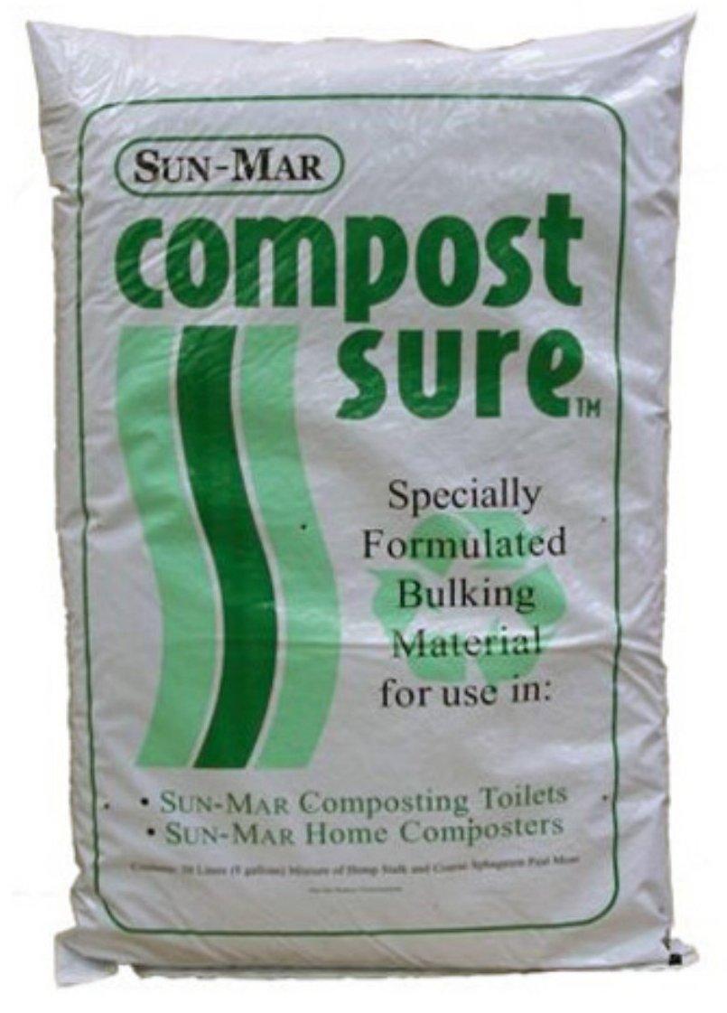 Sun-Mar Compost bolsa de seguro de verde 30 litros (8 litros ...